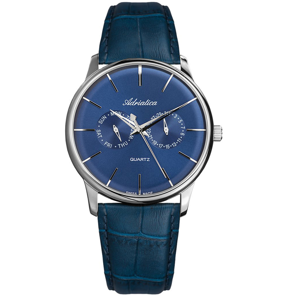 Фото «Мужские часы A8243.5215QF на кожаном ремешке с минеральным стеклом»