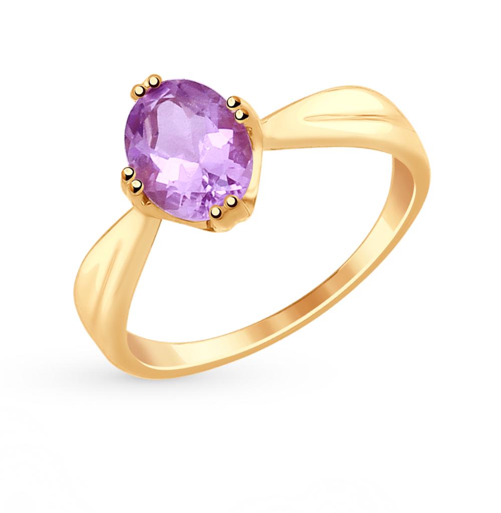 Фото «Золотое кольцо с аметистом SOKOLOV 715011*»