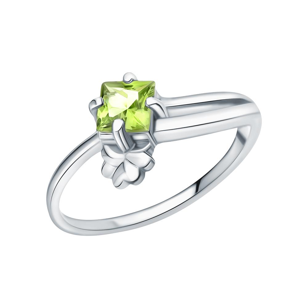 Серебряное кольцо с хризолитом в Екатеринбурге