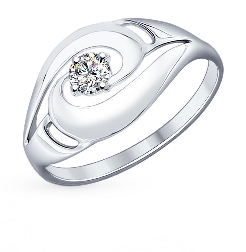 серебряное кольцо с фианитами SOKOLOV 94012157