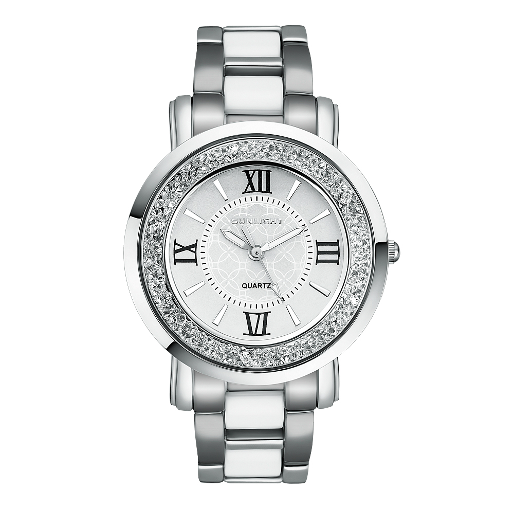 Женские часы с кристаллами на керамическом браслете в Санкт-Петербурге