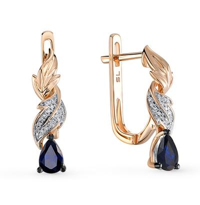 Фото «золотые серьги с сапфирами и бриллиантами»