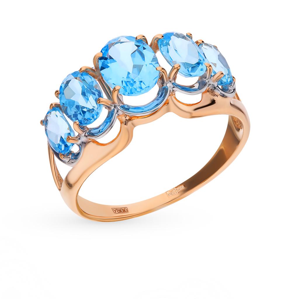 Фото «Золотое кольцо с топазами SOKOLOV 714435*»