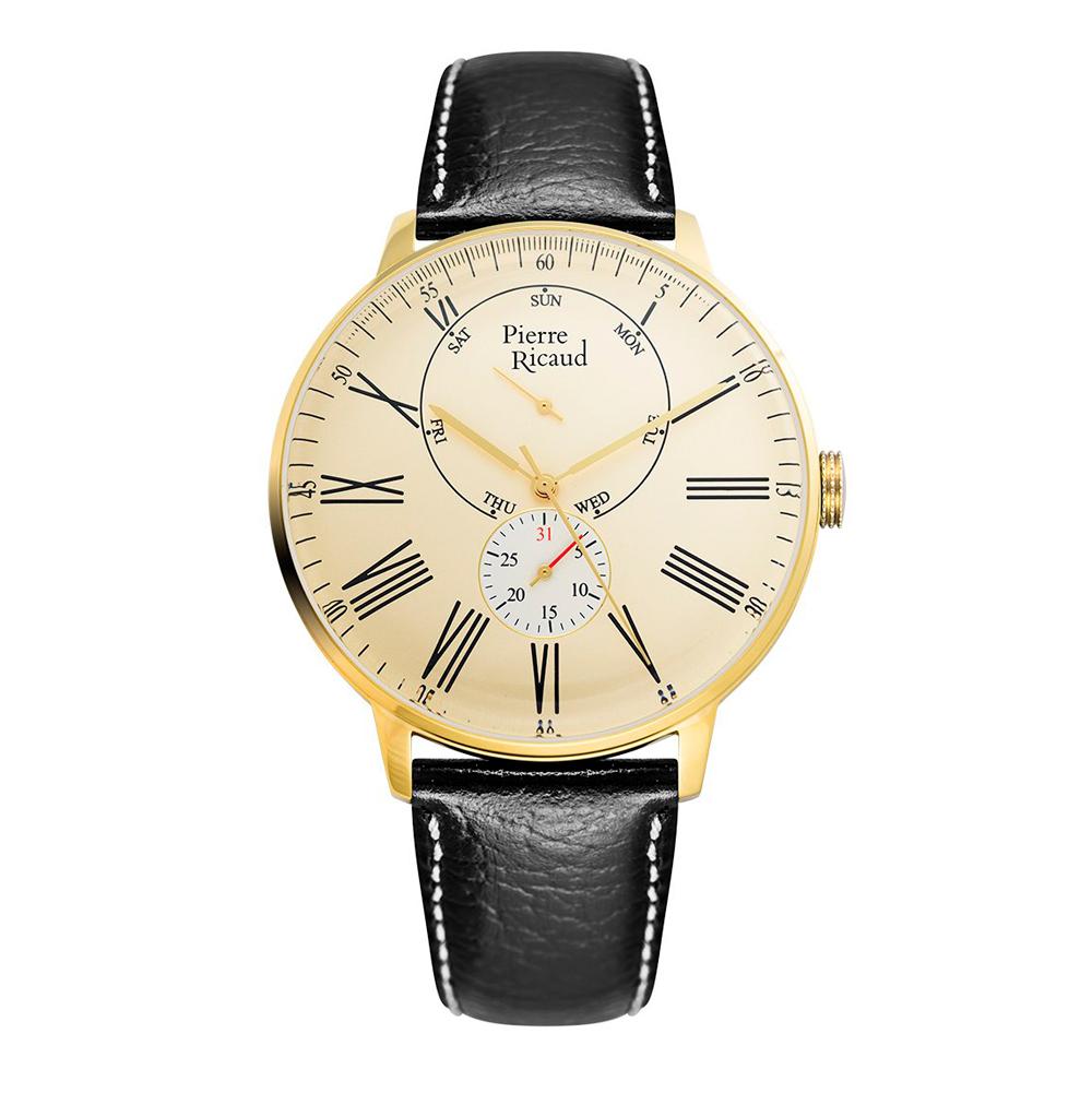 Мужские часы P97219.1231QF на кожаном ремешке с минеральным стеклом