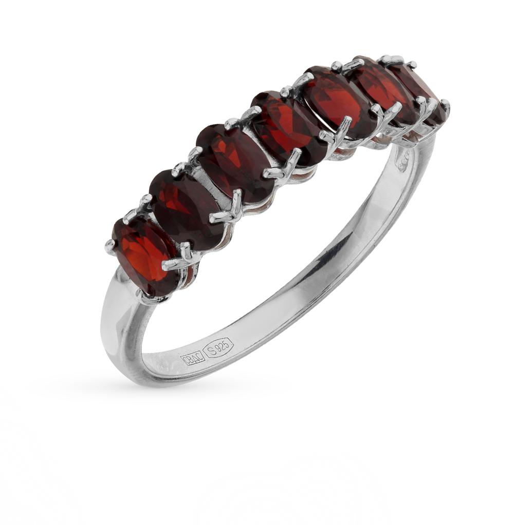 Серебряное кольцо с гранатом SOKOLOV 92010893 в Екатеринбурге