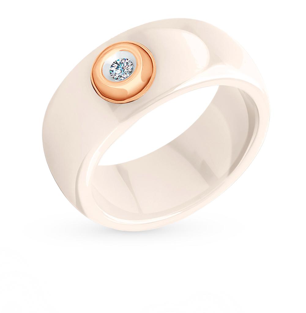 золотое кольцо с бриллиантами SOKOLOV 6015016