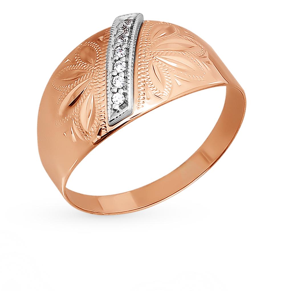 золотое кольцо с фианитами SOKOLOV 014744*