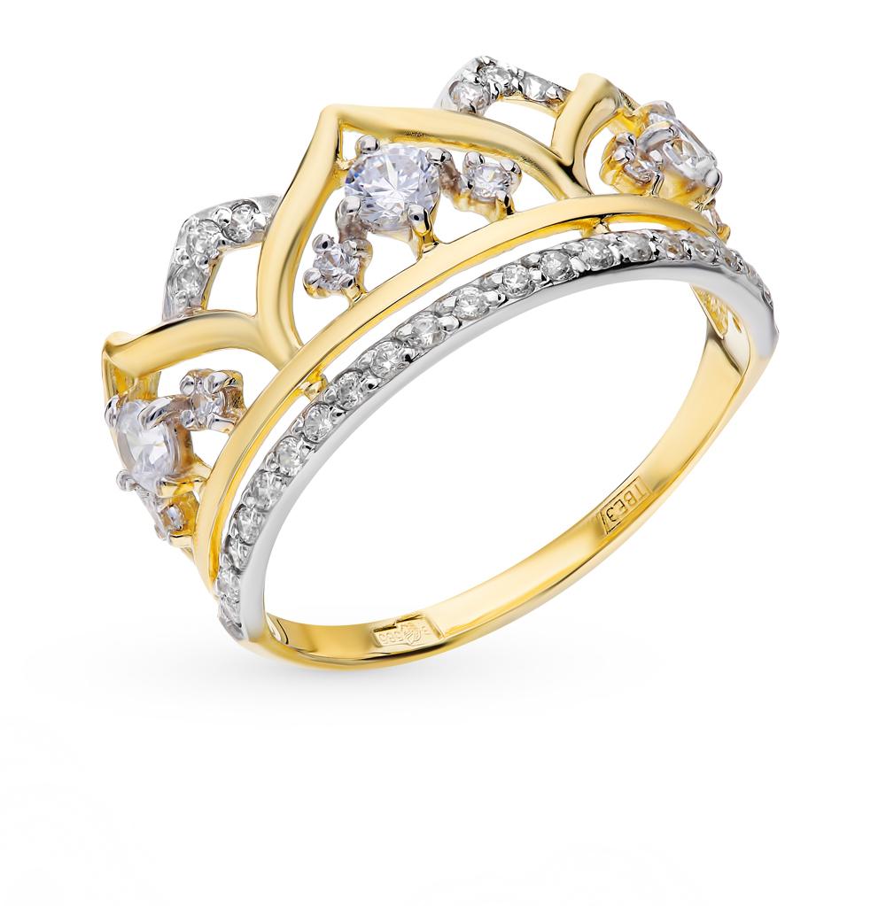 золотое кольцо с фианитами SOKOLOV 017416-2*