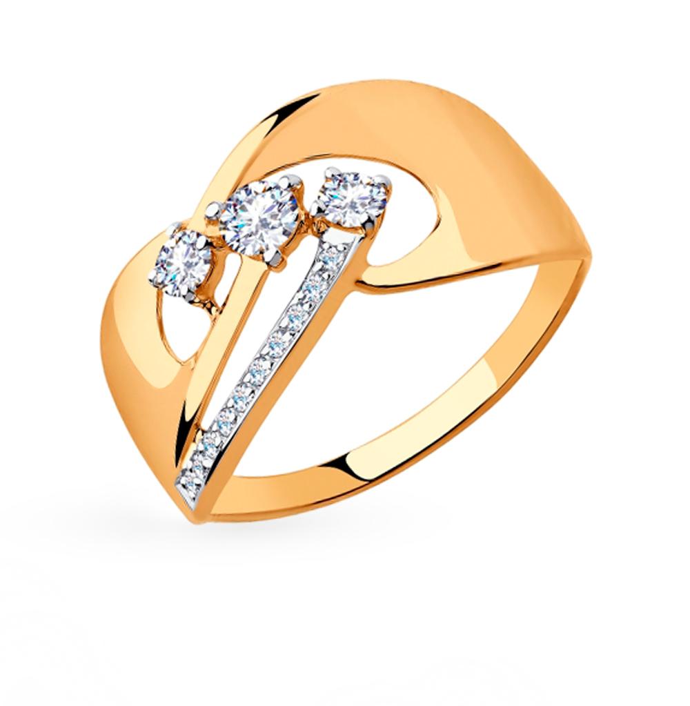 Золотое кольцо с фианитами SOKOLOV 018290 в Екатеринбурге