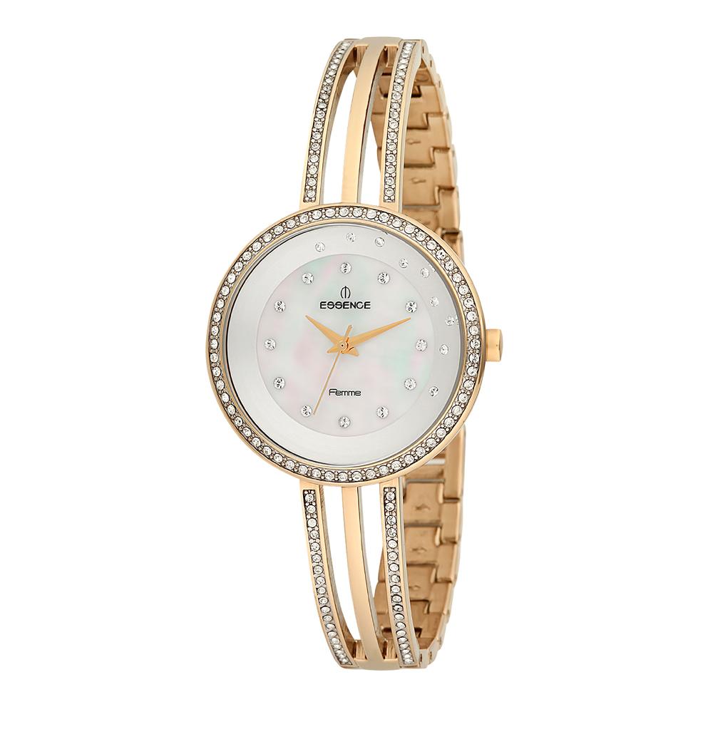 Фото «Женские часы D960.120 на стальном браслете с PVD покрытием с минеральным стеклом»