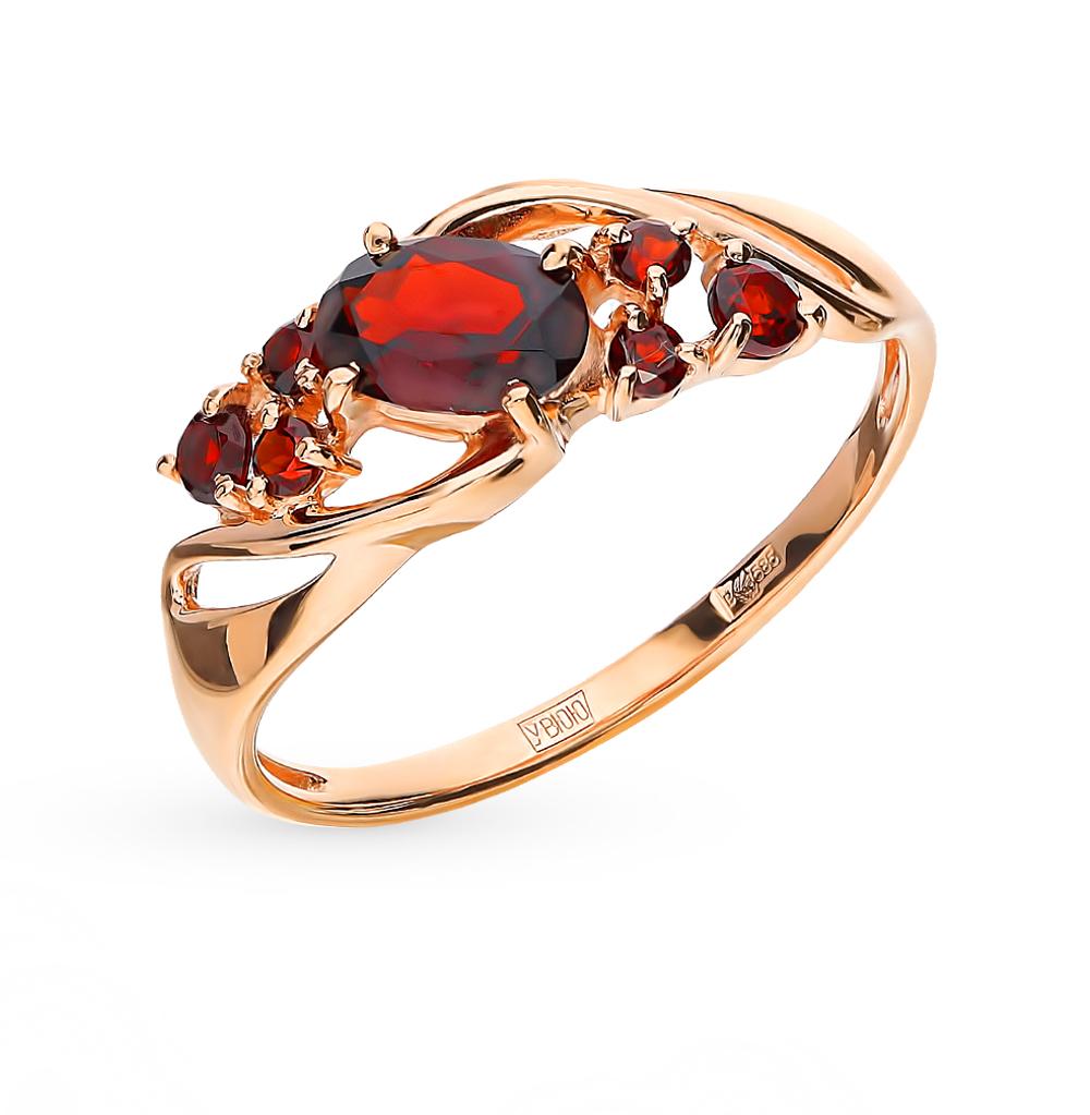 золотое кольцо с гранатом SOKOLOV 715180*
