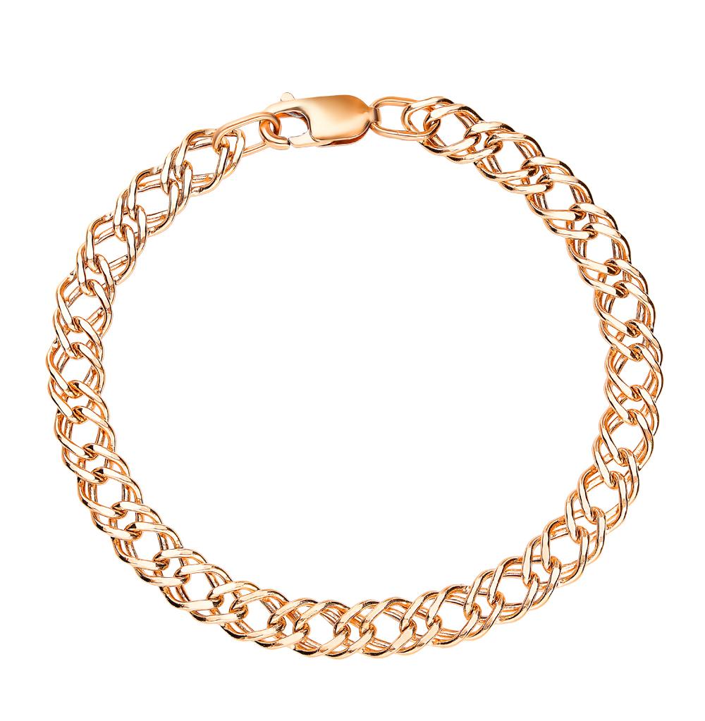 Золотой браслет КРАСЦВЕТМЕТ НБ 12-076ПГ 1,00   красное и розовое ... dd33d2fd82e