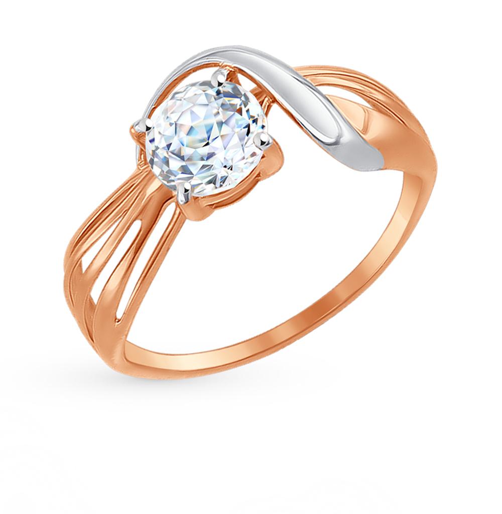 золотое кольцо с фианитами SOKOLOV 81010300*