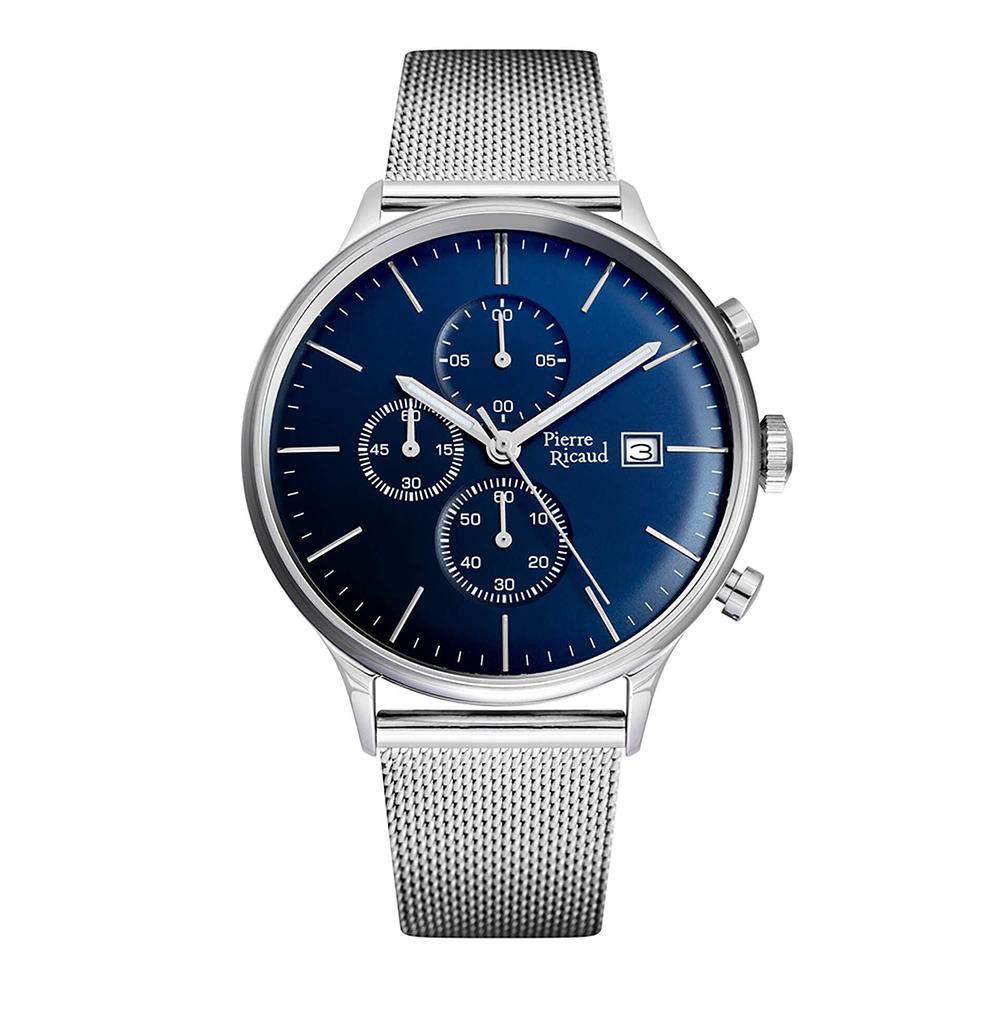Фото «Мужские кварцевые часы P97206.5115CH на стальном браслете с минеральным стеклом»