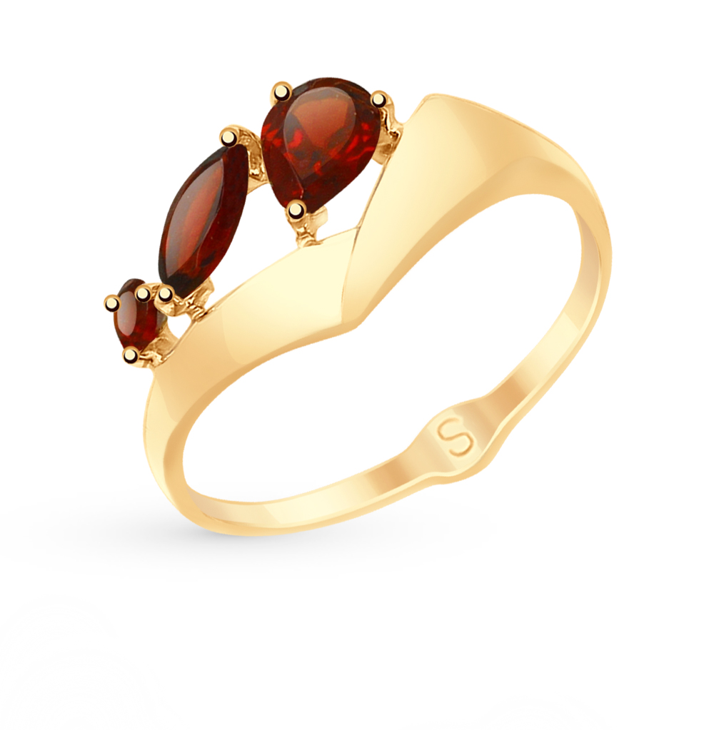 Золотое кольцо с гранатом SOKOLOV 715118* в Санкт-Петербурге