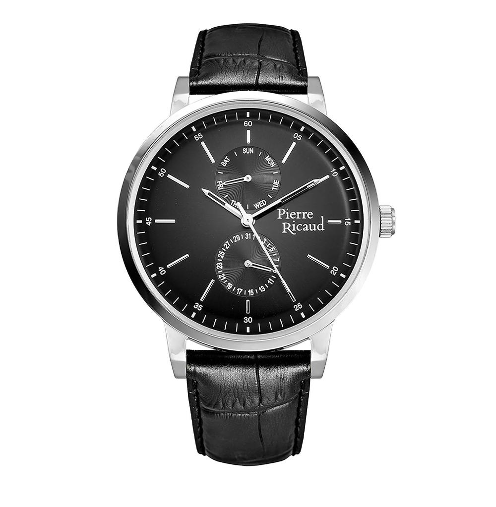 Фото «Мужские кварцевые часы P97256.5214QF на кожаном ремешке с минеральным стеклом»