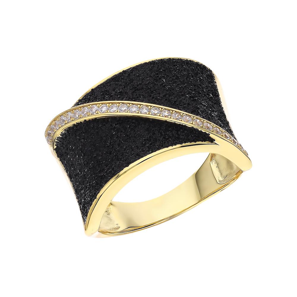 Фото «Серебряное кольцо с глиттером и кубическим цирконием»