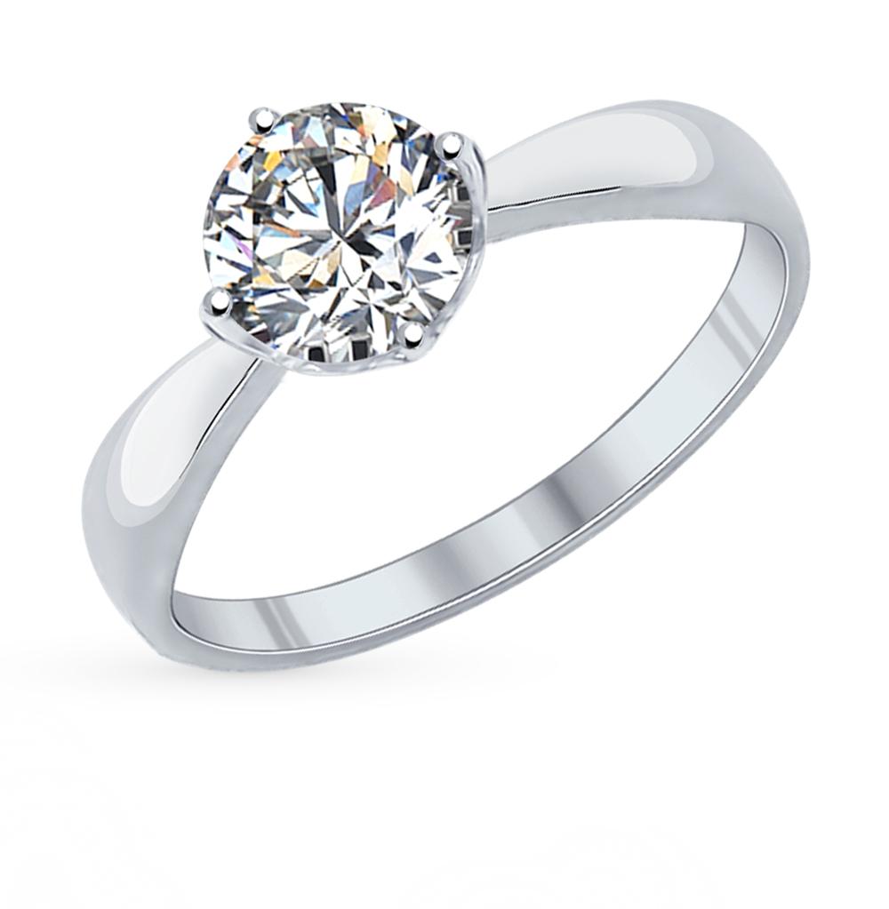 серебряное кольцо с фианитами SOKOLOV 89010028
