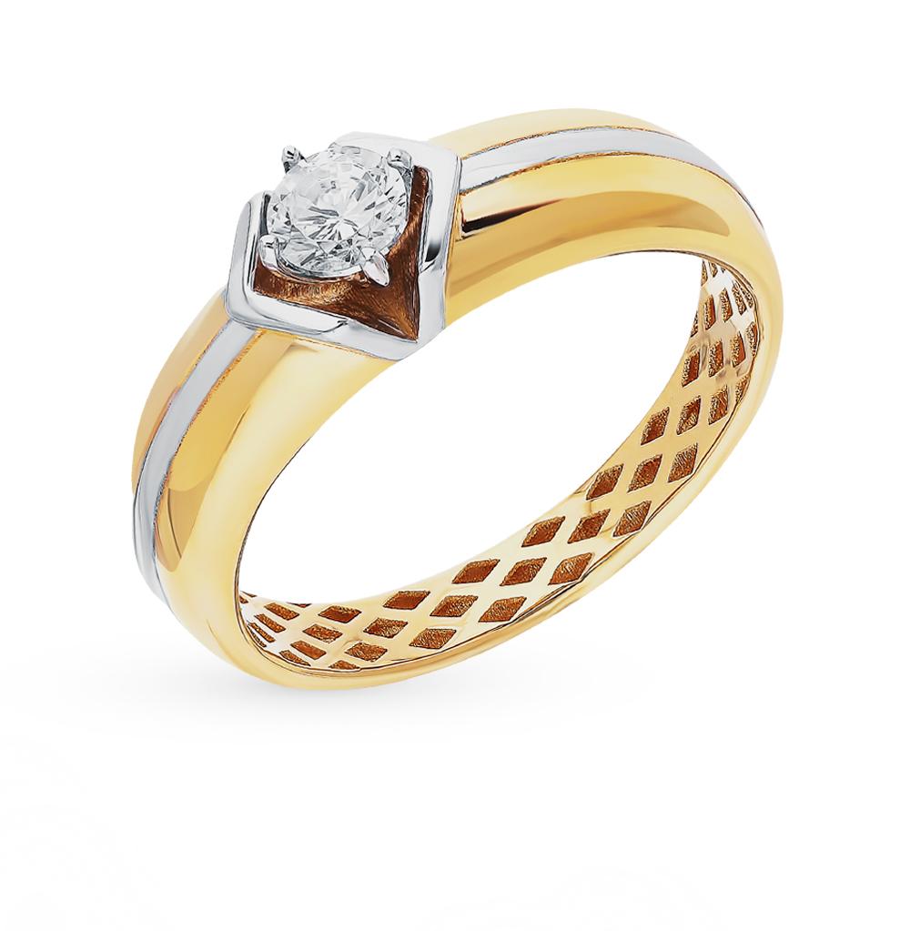 Фото «Золотое кольцо с фианитами SOKOLOV 018261-2*»