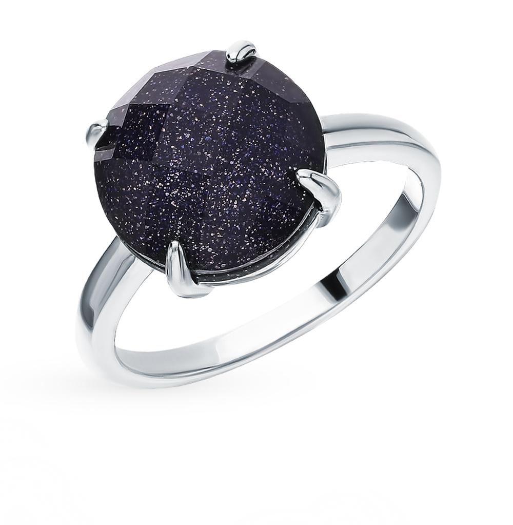 Серебряное кольцо с керамикой, алпанитом и авантюрином в Екатеринбурге