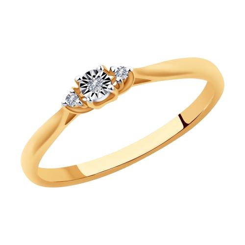 Фото «Золотое кольцо с бриллиантами SOKOLOV 1011994»