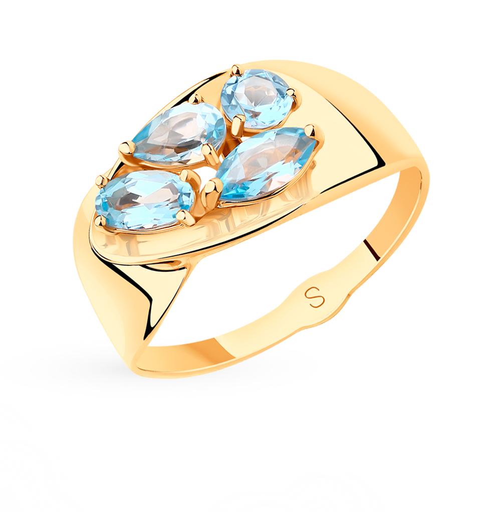золотое кольцо с топазами SOKOLOV 715553*