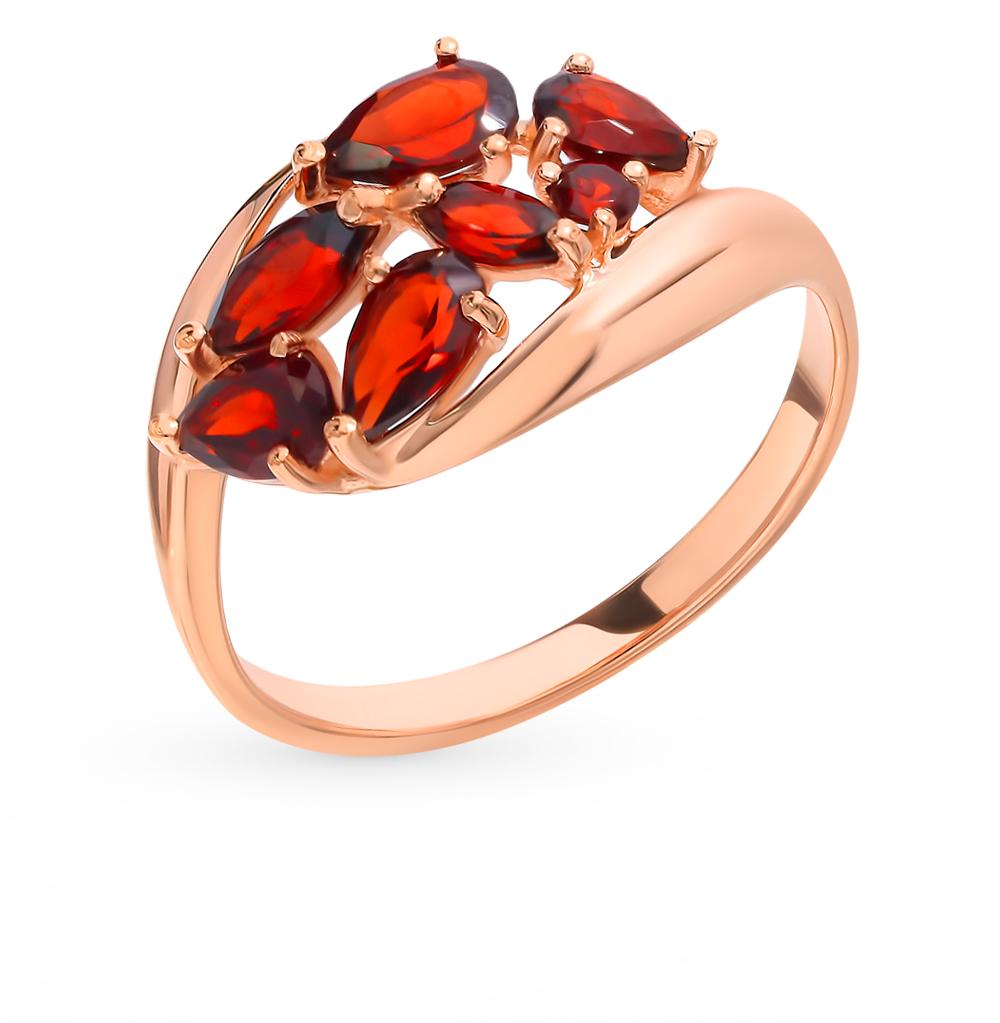 Фото «Золотое кольцо с гранатом SOKOLOV 714830*»