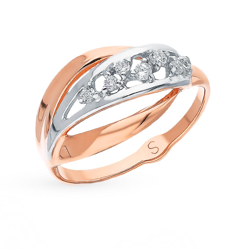 Фото «Золотое кольцо с фианитами SOKOLOV 018178*»