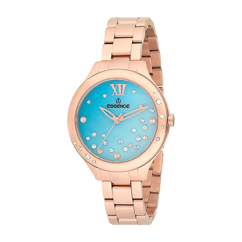 Фото «Женские часы ES6395FE.420 на стальном браслете с розовым PVD покрытием с минеральным стеклом»