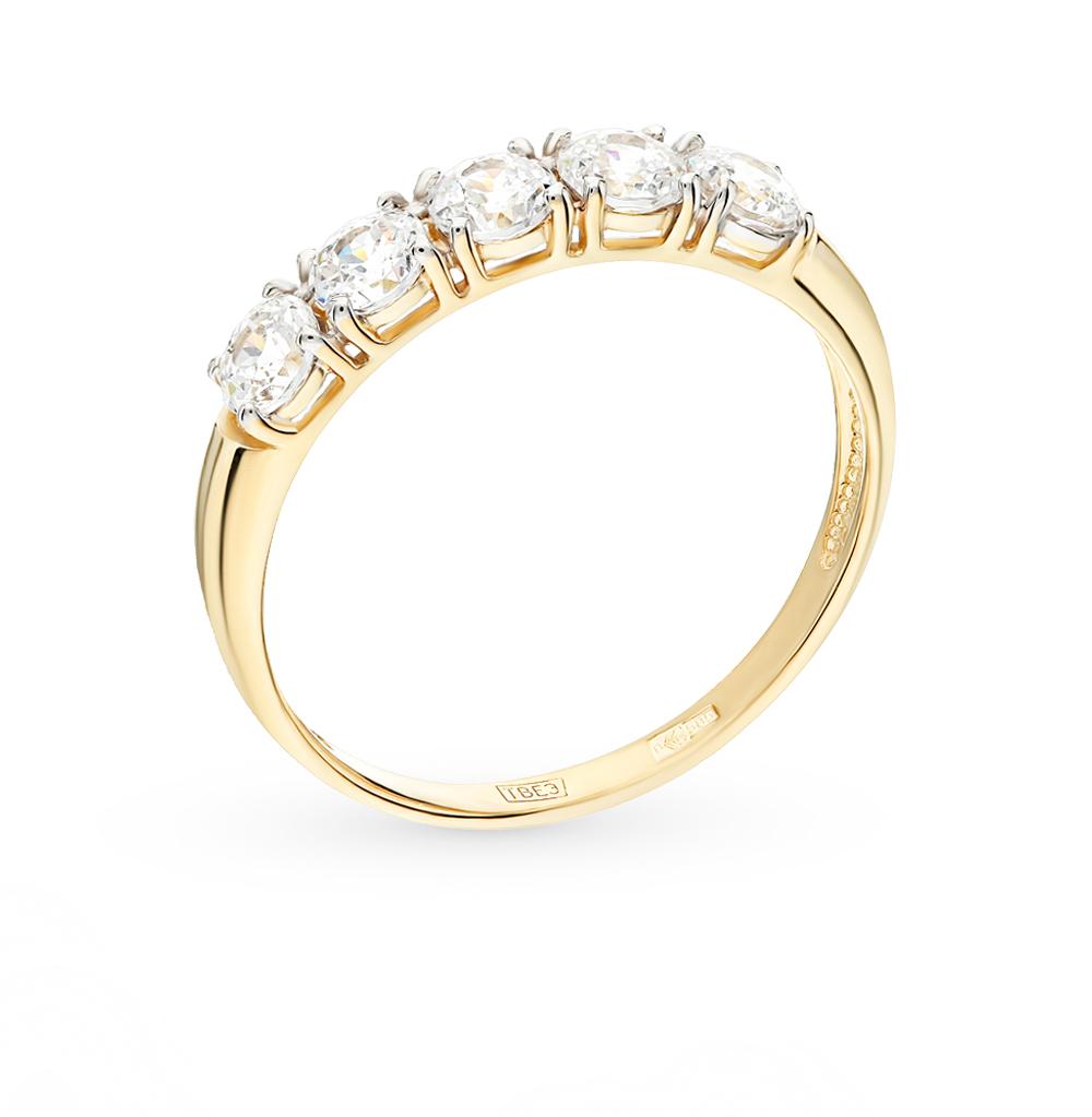 Фото «Золотое кольцо с фианитами SOKOLOV 81010281-2*»