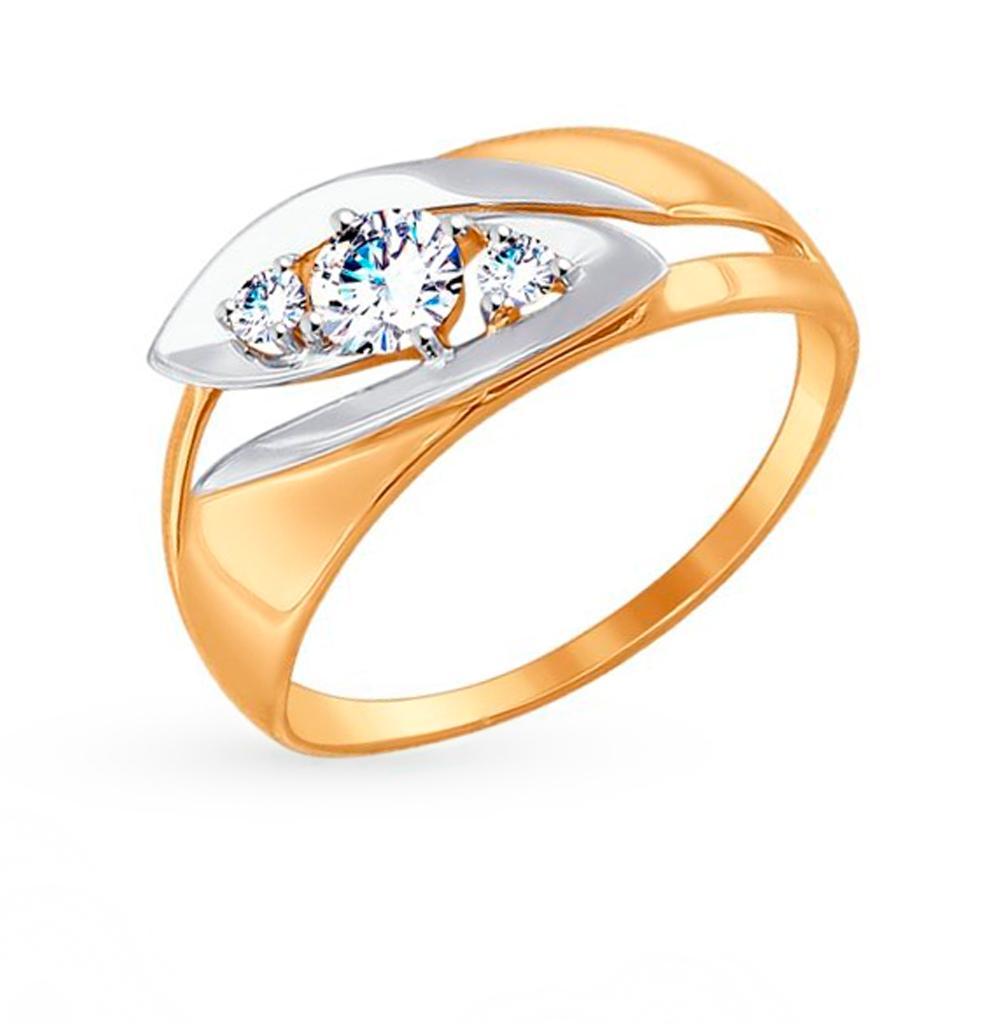 Золотое кольцо с фианитами SOKOLOV 017464 в Екатеринбурге