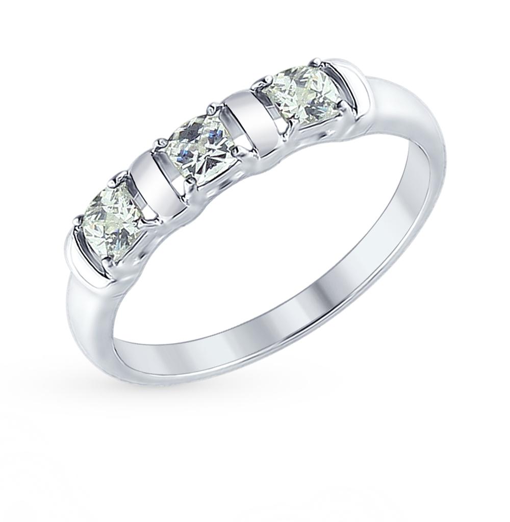 Серебряное кольцо с фианитами SOKOLOV 89010065 в Екатеринбурге