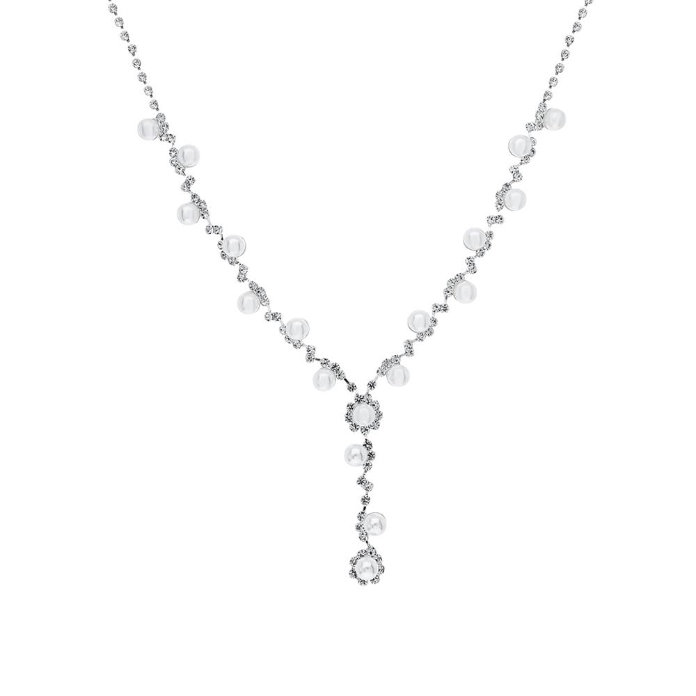 Фото «Серебряное шейное украшение с алпанитом и жемчугом»
