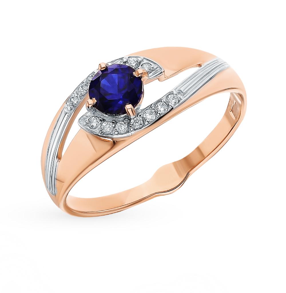 Золотое кольцо с сапфирами, корундом и фианитами SOKOLOV 715565 в Екатеринбурге