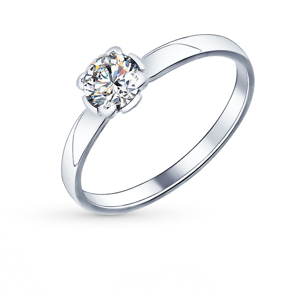 серебряное кольцо с фианитами SOKOLOV 89010010