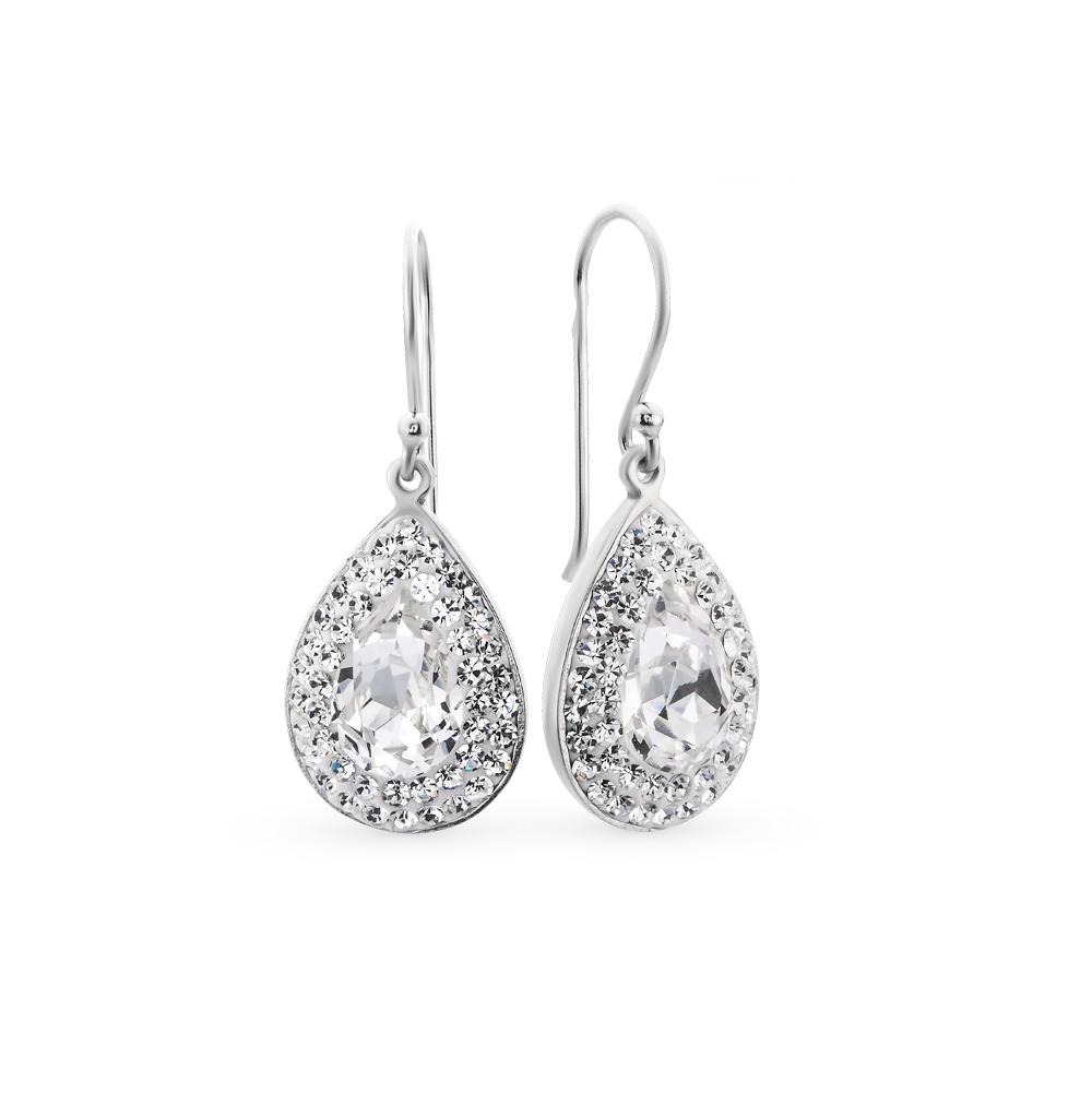 Фото «серебряные серьги с алпанитом и кристаллами»