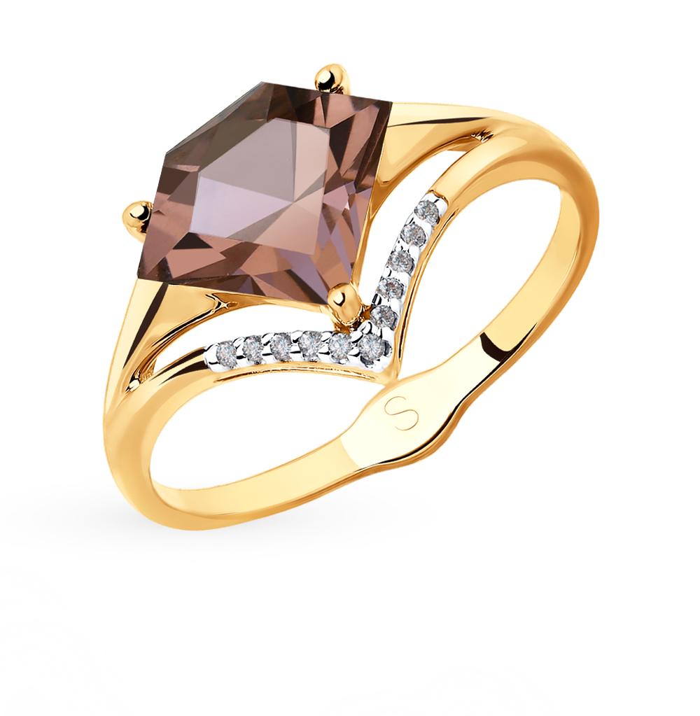 Золотое кольцо с ситаллами SOKOLOV 715351* в Екатеринбурге