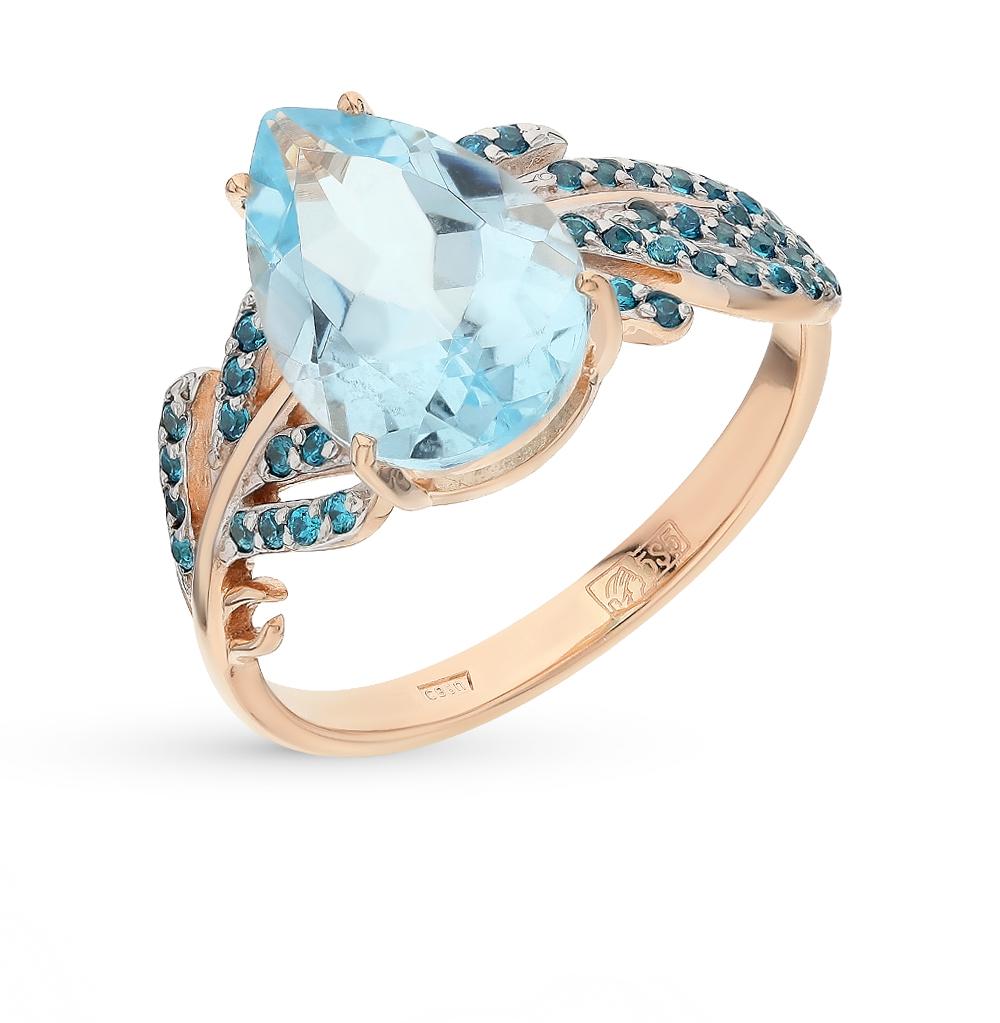 Фото «золото кольцо с топазами и фианитами»