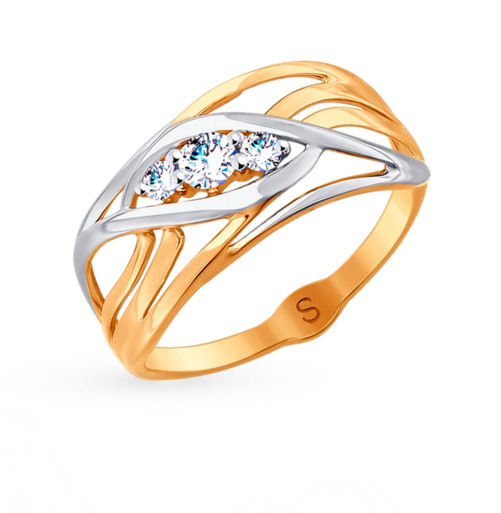 Золотое кольцо с фианитами SOKOLOV 017976 в Екатеринбурге
