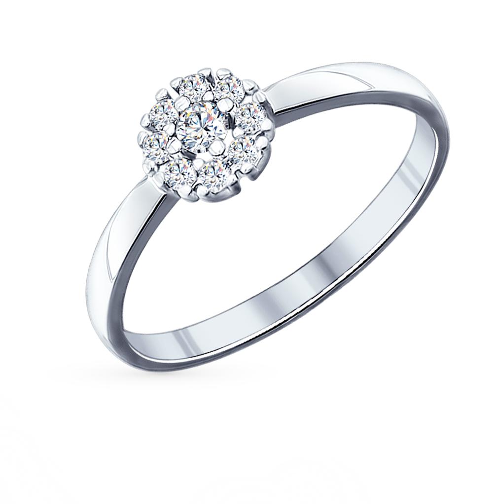 серебряное кольцо с фианитами SOKOLOV 94011710