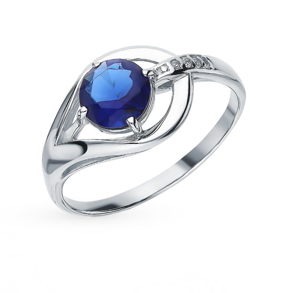 Серебряное кольцо с сапфирами и фианитами в Екатеринбурге