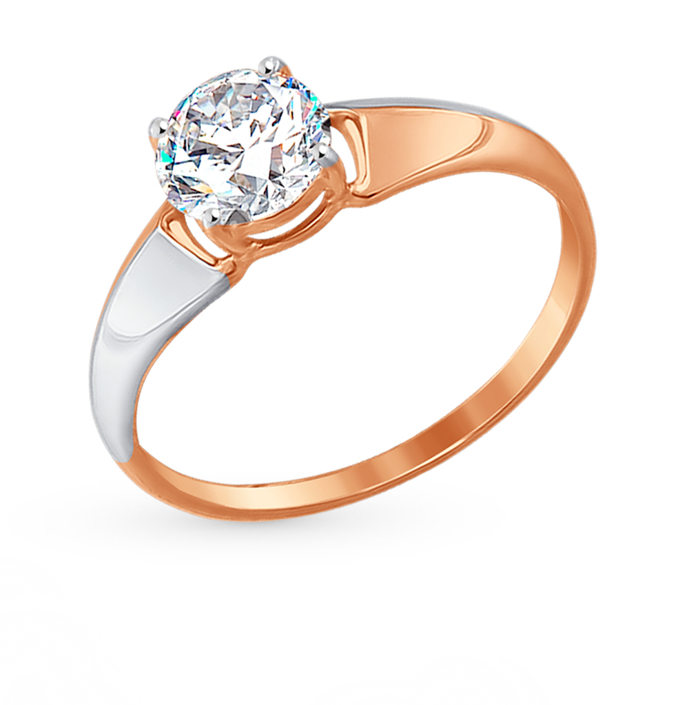Фото «Золотое кольцо с фианитами SOKOLOV 017397*»