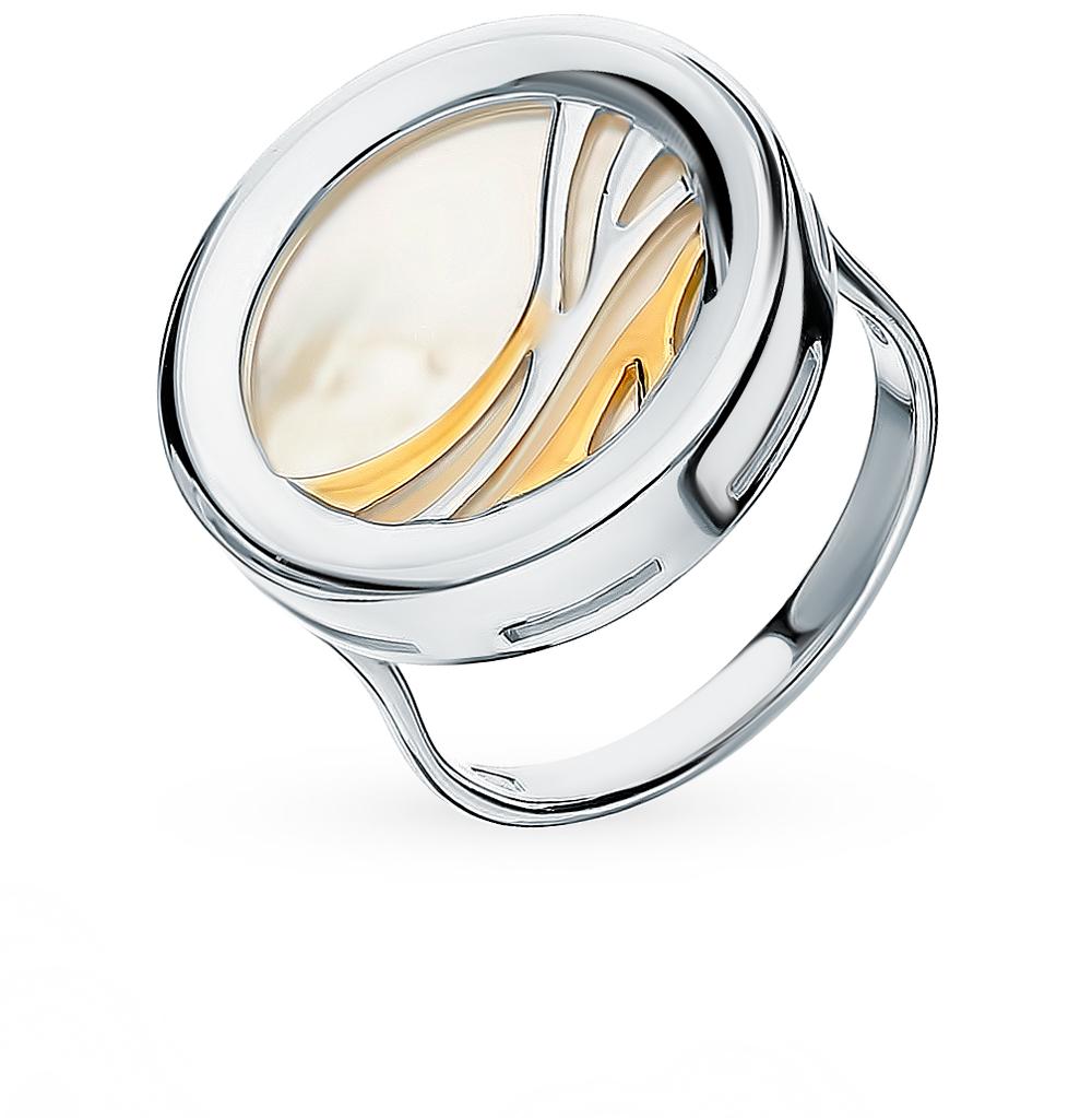 серебряное кольцо с перламутром SOKOLOV 94012612