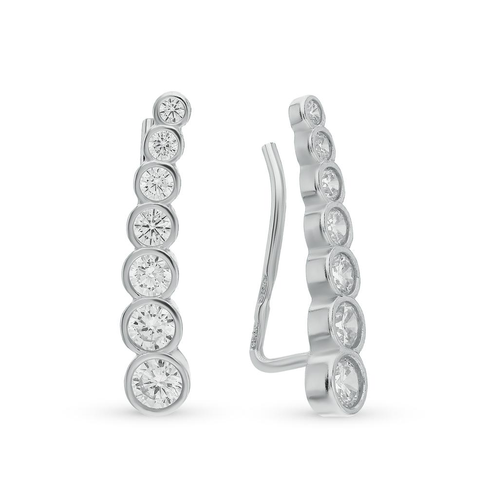 серебряные серьги с фианитами SOKOLOV 94021653