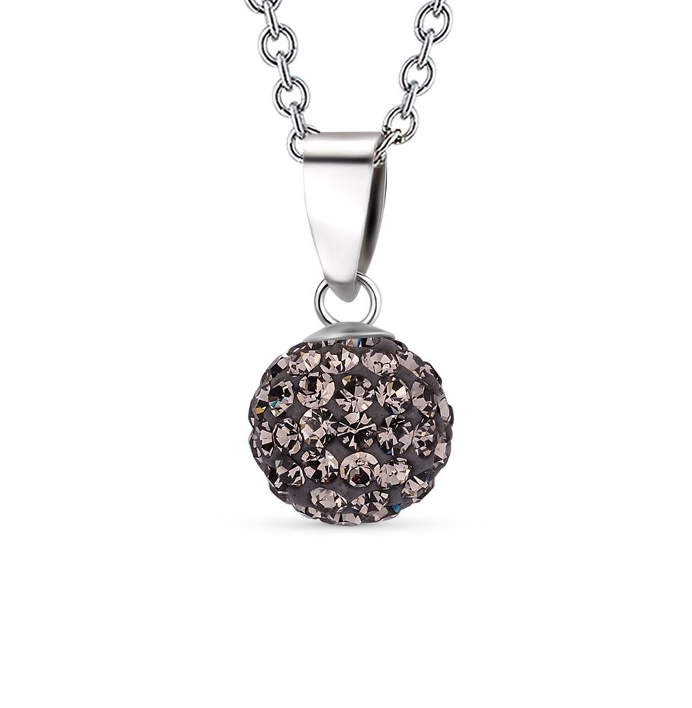 Фото «серебряная подвеска с кристаллами swarovski»