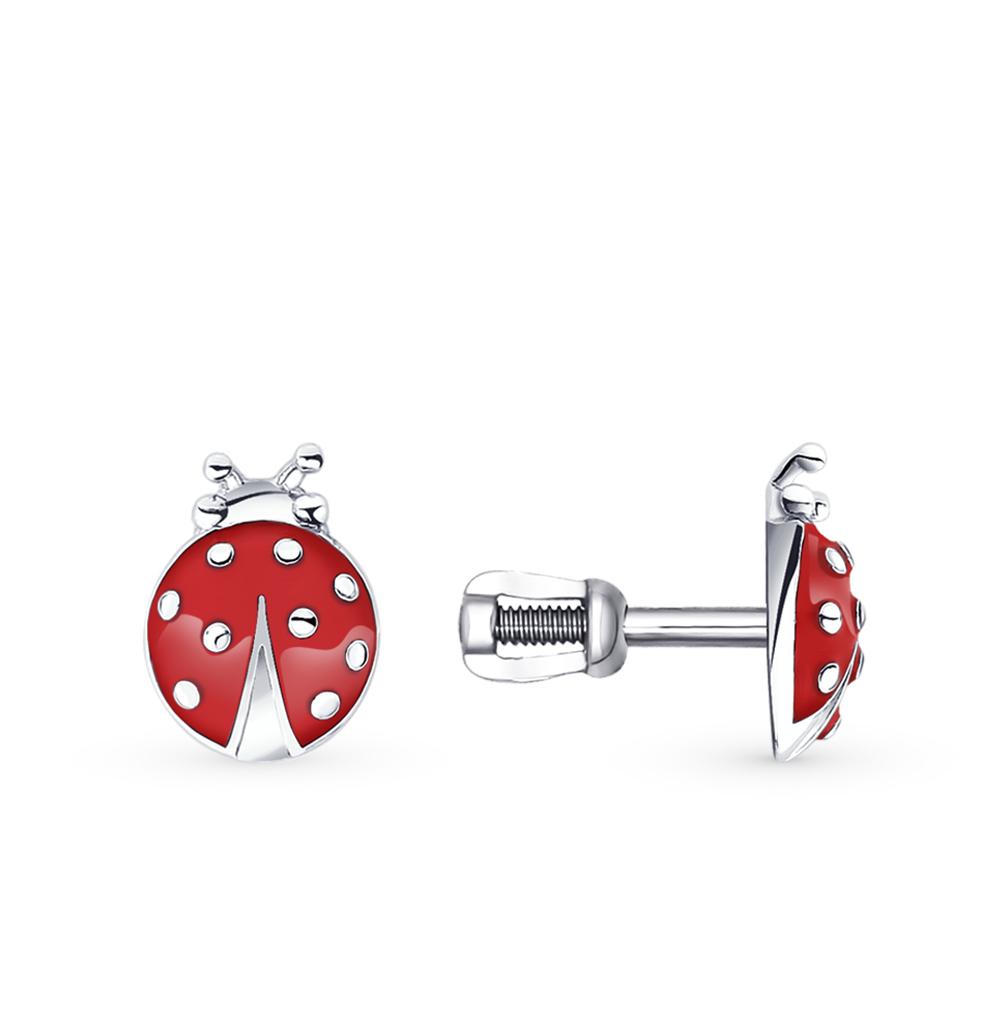 серебряные серьги с эмалью SOKOLOV 94020529