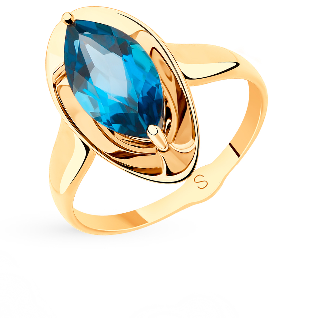 золотое кольцо с топазами SOKOLOV 715529*
