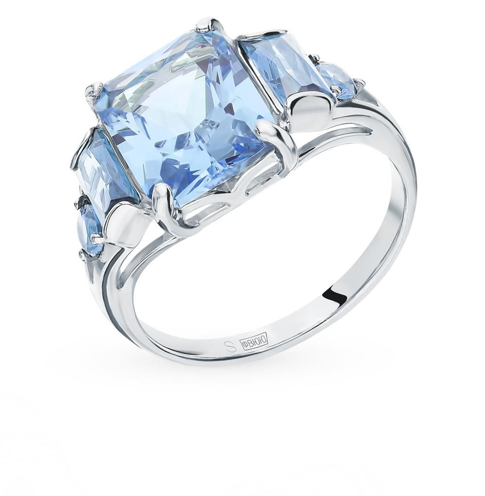серебряное кольцо с фианитами SOKOLOV 94012800