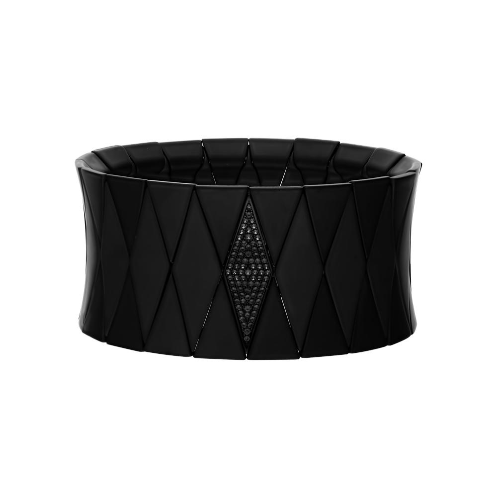 Фото «Серебряный браслет с керамикой и фианитами»