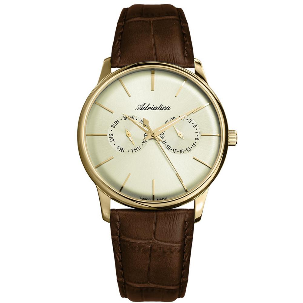 Мужские часы A8243.1211QF на кожаном ремешке с минеральным стеклом